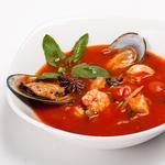Томатний суп із морепродуктів