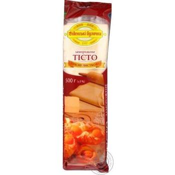 Тесто Венские Булочки пресное слоеное 500г