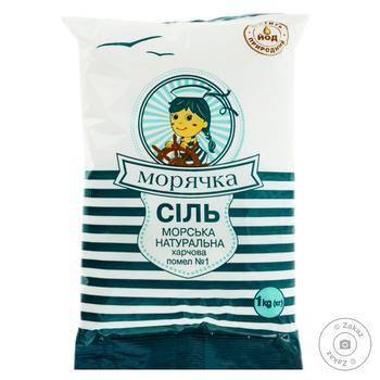 Соль пищевая Морячка морская 1кг - купить, цены на Novus - фото 1