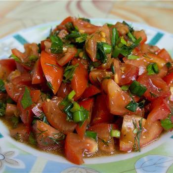 Марокканский томатный салат