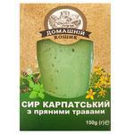 Сыр Домашний Кошик Карпатский с пряными травами 150г