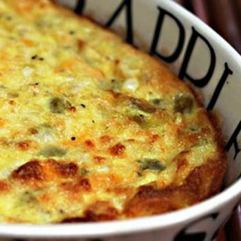 Сырная запеканка с овощами