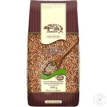 Avgust Premium Buckwheat 1kg - buy, prices for MegaMarket - image 1
