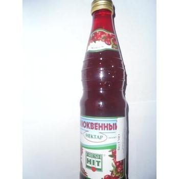 Нектар Фреш Хит клюквенный прямой отжим неосветленный стеклянная бутылка 330мл Россия
