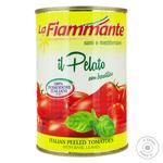 Томаты La Fiammante целие очищенные с базиликом 400г - купить, цены на Novus - фото 1