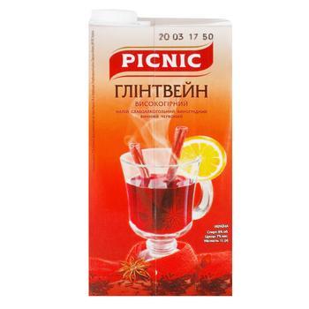 Напій винний Пікнік Глінтвейн високогірний виноградний червоний 7% 1л - купити, ціни на Ашан - фото 1