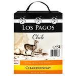 Вино Los Pagos Chile Шардоне белое сухое 3л