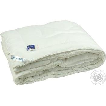 Одеяло Руно 205х140 искусственный лебединый пух - купить, цены на Ашан - фото 1