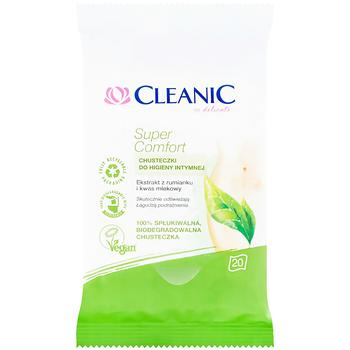 Салфетки влажные Cleanic Super Comfort для интимной гигиены 20шт