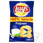 Chips Lay's potato with taste of sour cream 200g packaged