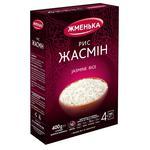 Рис Жменька жасмин длиннозерный шлифованный в пакетиках 400г