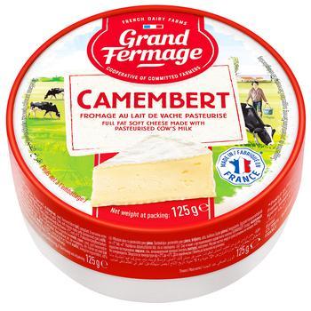 Grand Fermage Camembert Cheese 44% 125g
