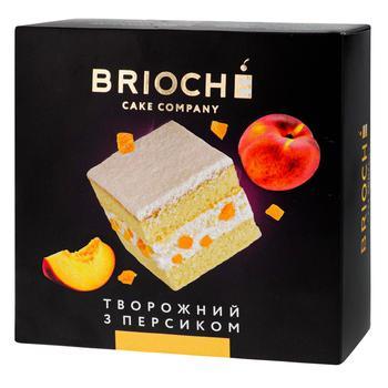 Торт Brioche Творожний з персиком 550г - купити, ціни на Ашан - фото 1