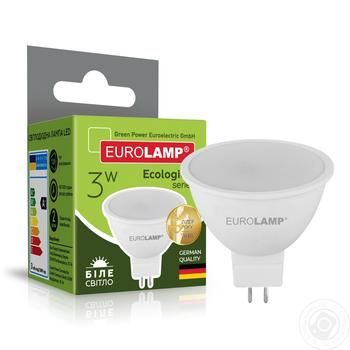 Лампа Eurolamp LED ЕКО D SMD MR16 3W 4000K GU5.3