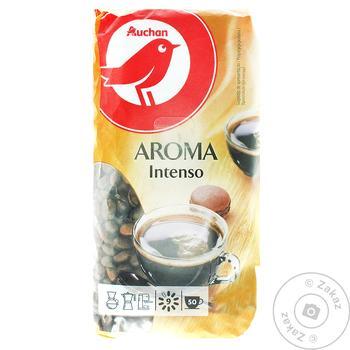 Кофе Ашан арома в зернах 250г - купить, цены на Ашан - фото 1