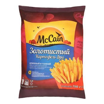 Картофель фри МакКейн Золотистый обжаренный и быстрозамороженный 750г - купить, цены на СитиМаркет - фото 1
