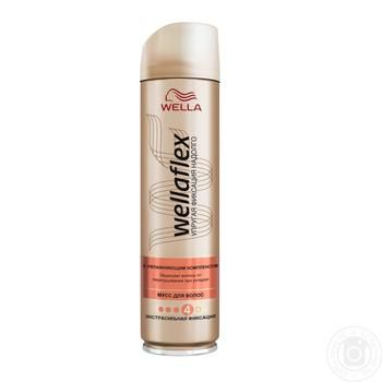 Лак для волос Wellaflex экстрасильная фиксация с увлажняющим комплексом 250мл - купить, цены на Ашан - фото 2