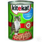 Корм Kitekat Домашний обед с рыбой для кошек 400г
