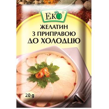 Желатин з приправою Еко до холодцю 20г - купити, ціни на ЕКО Маркет - фото 1