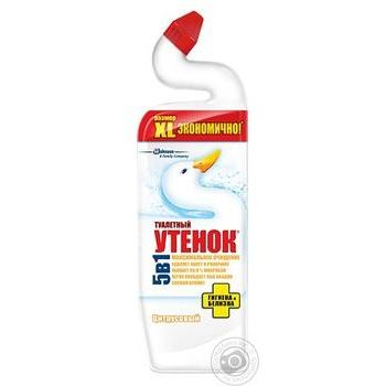 Чистящее средство для унитазов Туалетный утенок Гигиена и белизна с цитрусовым ароматом 900мл