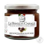 Соус Le Bonta'del Casale Брускетта з чорних оливок і оливкової олії 212мл
