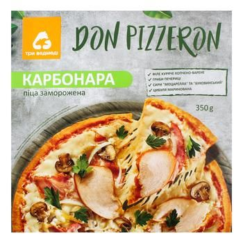 Пицца Don Pizzeron Три Медведя карбонара 350г - купить, цены на Фуршет - фото 1
