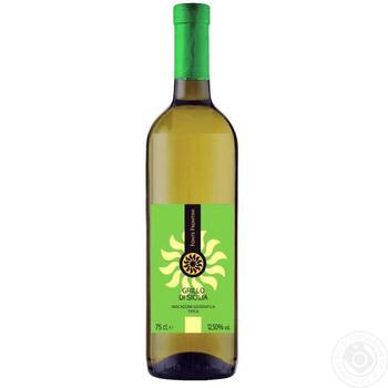 Вино Fonte Frontini Грілло Сицилія біле сухе 12,5% 0,75л