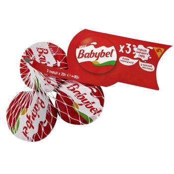 Сир Babybel Міні напівтвердий 3 порції 45% 3х20г - купити, ціни на Восторг - фото 1