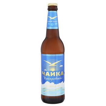 PPB Chayka Dniprovska Light Beer 4.8% 0.5l - buy, prices for CityMarket - photo 1