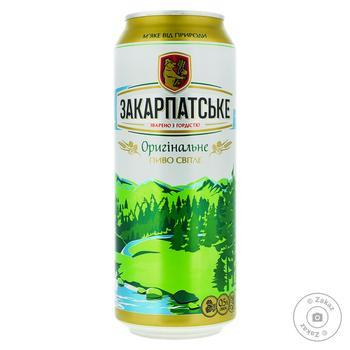 Zakarpatske Original Light Beer 4,4% 0,5l - buy, prices for Auchan - photo 1