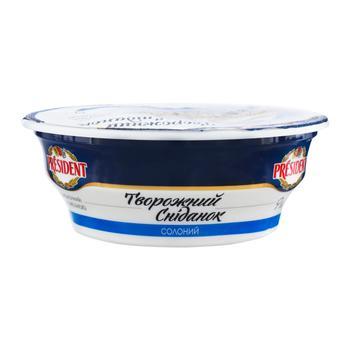 Сыр President кисломолочный со сметаной соленый 9% 180г - купить, цены на Фуршет - фото 1