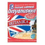 Каша овсяная Овсянушка Британика с сухими сливками быстрого приготовления 40г