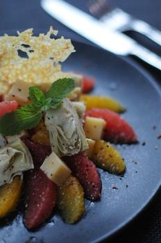 Сырно-цитрусовый салат