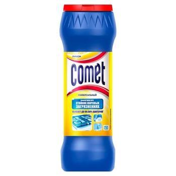 Порошок Comet Лимон Двойной эффект чистящий универсальный 475г - купить, цены на Фуршет - фото 1