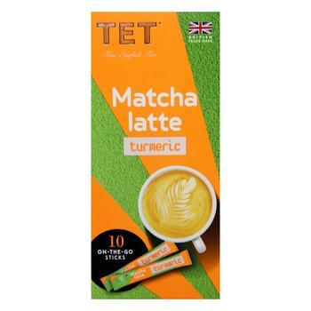 Напиток ТЕТ matcha latte на основе зеленого чая с ароматом куркума-имбирь 10шт*10г - купить, цены на СитиМаркет - фото 2