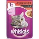 Корм для котов Whiskas с говядиной в соусе 100г - купить, цены на Novus - фото 2
