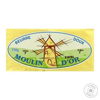 Butter Moulin d'or cream unsalted 80% 250g - buy, prices for MegaMarket - image 1