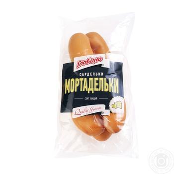 Сардельки Глобино Мортаделькы высший сорт весовые - купить, цены на Фуршет - фото 1