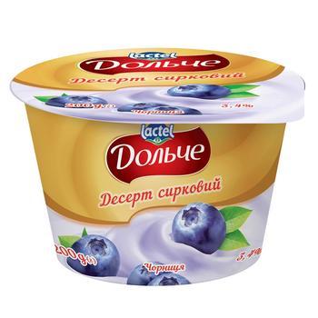 Десерт творожный Дольче черника 3,4% 200г
