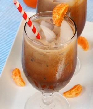 Мокка со льдом и мандарином