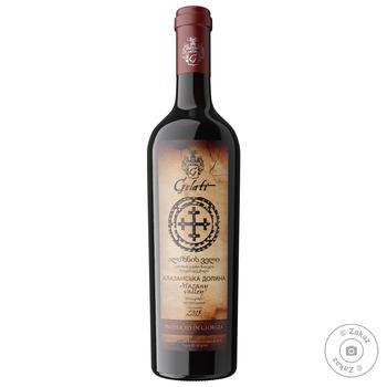 Gelati Alazani Valley red semi-sweet wine 10-13% 0,75l - buy, prices for Furshet - image 1