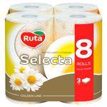 Ruta Selecta Toilet Paper Three-layer Chamomile 8pcs