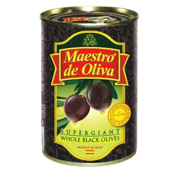 Маслины Maestro de Oliva Супергигант с/к ж/б 425г