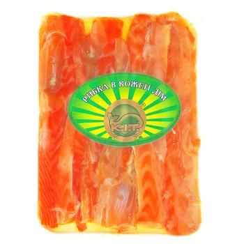 Семга K.i.t. брюшка холодного копчения 150г - купить, цены на Ашан - фото 1