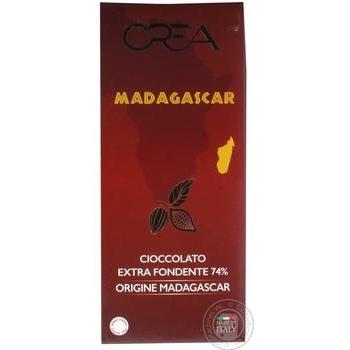 Шоколад Crea Madagascar чорний 74% 100г