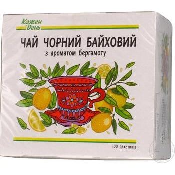 Чай Каждый день черный байховый с бергамотом 100х1.5г