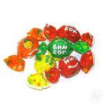 Цукерки Roshen Бім-Бом карамельні з фруктово-ягідною начинкою вагові