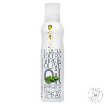 Масло оливковое Каламата нерафинированное первого отжима с ароматом базилика спрей 200мл - купить, цены на Novus - фото 1