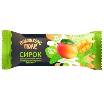 Voloshkove Pole Glazed Curd Snack with Mango Filling 26% 36g