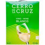 Вино Cerrо de la Cruz Blanсo белое сухое 11% 5л